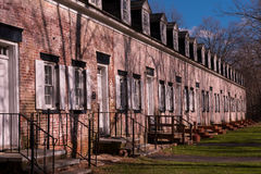 Row Houses. A row of brick houses in historic Allaire village Royalty Free Stock Images