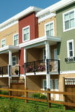 Row Houses Bright Colors royalty free stock photography