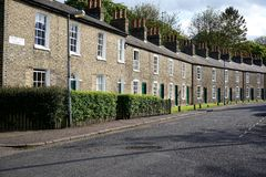 Row Of Houses, Cambridge, England Stock Photography