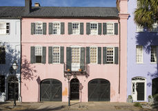 Row houses in Charleston, South Carolina Royalty Free Stock Image