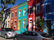 Row houses DC stock photography