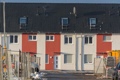 Row houses in a development area. Stock Image
