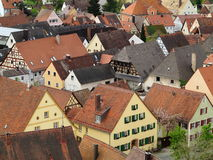 Row of houses Hilpoltstein town Stock Photography