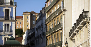 Row of houses in Lisbon, Portugal Royalty Free Stock Photos