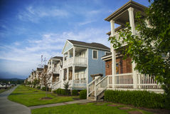 Row of Houses in a Mid-America Suburb Stock Photos