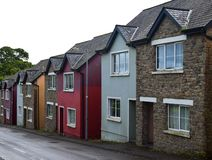 A row of houses in Mountshannon, County Clare, Ireland stock photo