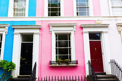 Row houses in Notting Hill, London Royalty Free Stock Images
