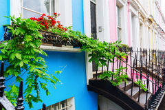 Row houses in Notting Hill, London Stock Photo