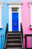 Row houses in Notting Hill, London. Colorful typical row houses in Notting Hill, London, UK Royalty Free Stock Photography