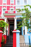 Row houses in Notting Hill, London. Colorful typical row houses in Notting Hill, London, UK Royalty Free Stock Image