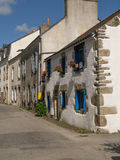 Row of houses. A row of houses in Port Saint Goustan, Auray, Brittany Royalty Free Stock Photos