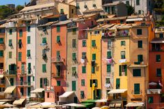 Row Houses, Portovenere, Italy Royalty Free Stock Photography