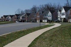 Row of houses. A quiet street in Stafford, Virginia, United States stock images