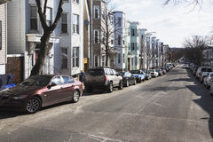 Row houses, South Boston, Massachusetts, USA Royalty Free Stock Images