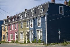 Row Houses St. John's, Newfoundland Stock Images