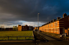 Row of houses in a street of manchester Royalty Free Stock Photography