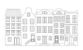 Row of houses, vector illustration Royalty Free Stock Photography