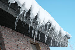 Row of icicles Royalty Free Stock Photo