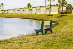 Row of Identical Mobile Homes Stock Images