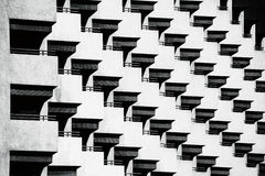 In Row. This image was taken in Deira, Dubai. I saw this abstract shapes of one hotel and clicked my shutter Royalty Free Stock Image