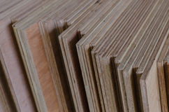 Row of industrial plywood Royalty Free Stock Photo