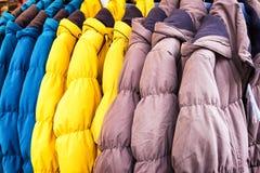 Row of jackets Royalty Free Stock Photo
