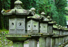 Row of Japanese lantern Stock Photos