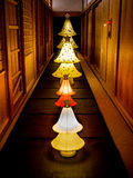 A Row of Japanese paper Lanterns in Kyoto Stock Photography