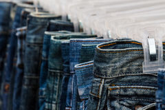 Row of Jeans and trousers . Stock Photography
