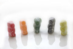 Row of jelly babies Stock Photos