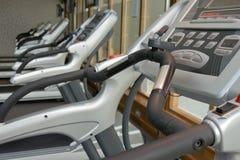 Row of jogging simulators Royalty Free Stock Photo