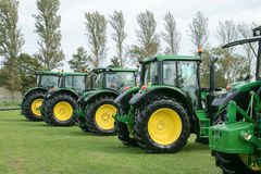 A row of  John Deere Tractors at show Royalty Free Stock Images