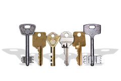 row of keys Stock Images