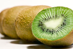 Row of Kiwi fruit Stock Photo