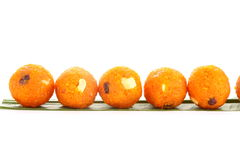 Row of ladoo Royalty Free Stock Photos