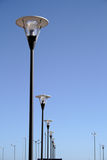 Row of lampost Stock Photography