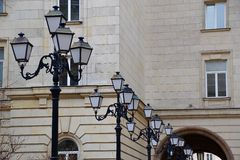 Row of Lampposts Stock Image