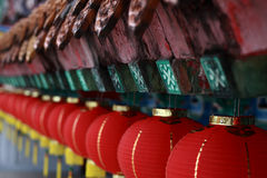 Row of Lantern. Lantern decoration in a Chinese temple prepared for Chinese New Year Stock Images