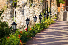 Row of lanterns Stock Images