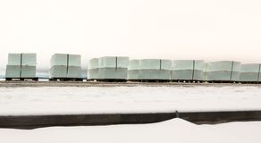 Row of large ice cubes Royalty Free Stock Images