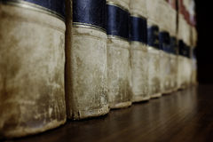 Row of Law Books on Shelf Stock Photography