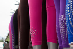 Row of leg tights Stock Photo