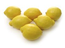 Row of lemons Stock Images