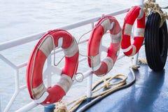 Row of life buoys Royalty Free Stock Photography