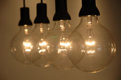 Row of light bulb Royalty Free Stock Image
