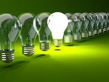 Row of light bulbs Stock Photo
