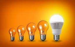 Row of light bulbs Stock Photography