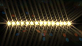 Row of  lights from a stage Royalty Free Stock Images