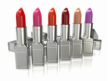 Row of lipsticks. Stock Photography