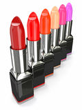 Row of lipsticks Stock Image